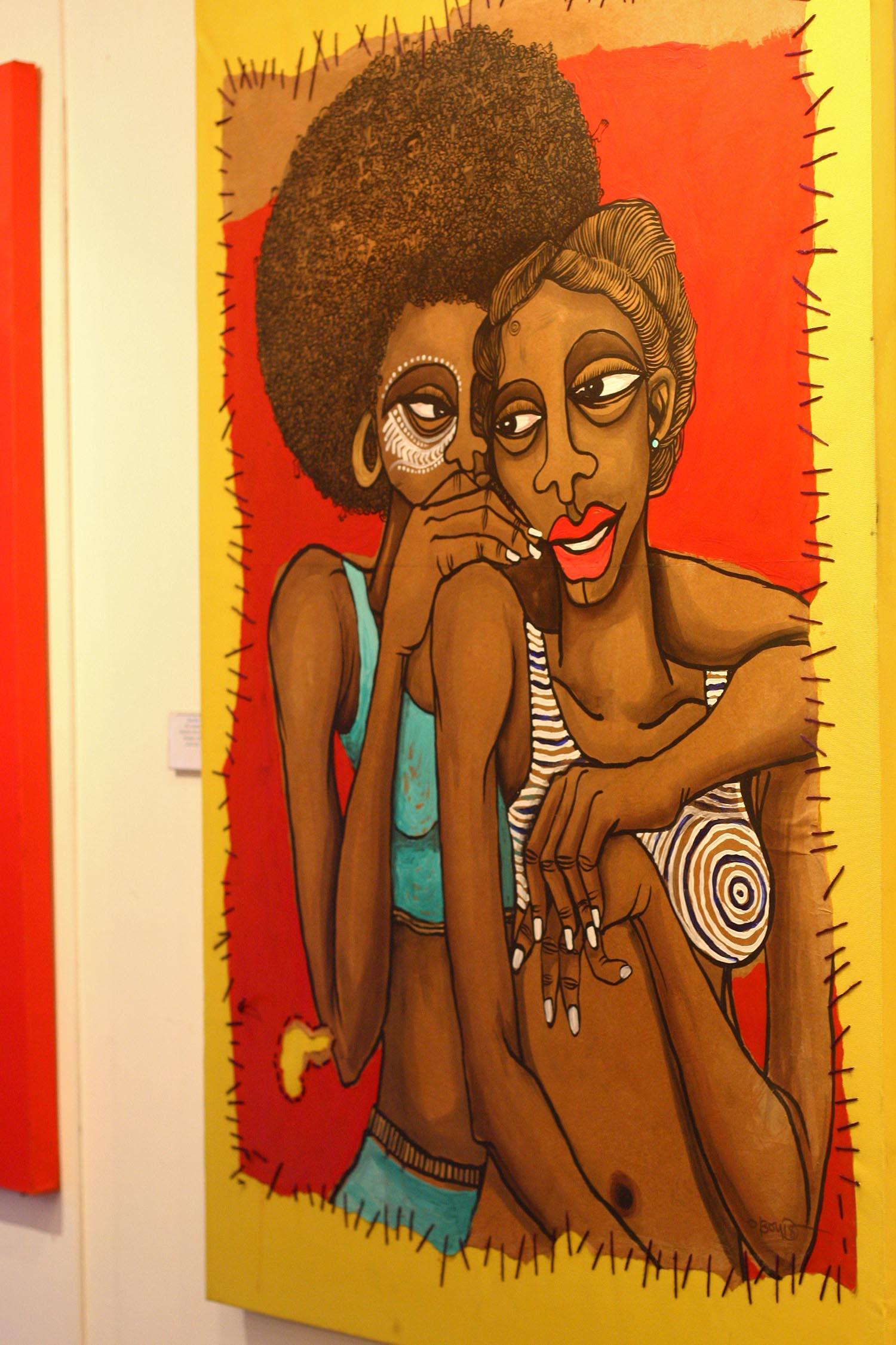 Peintre Obou Les copines 1