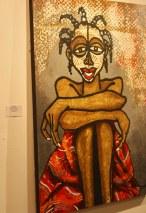 Peintre Obou sourire